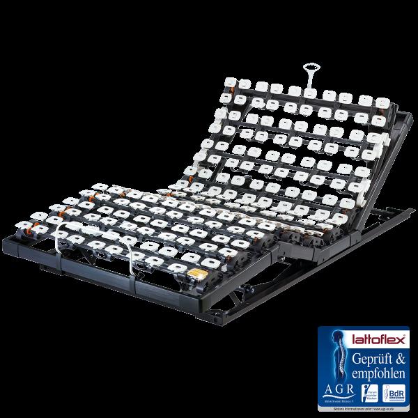 Lattoflex Lattenrost Motorrahmen 383 mit Verstellmöglichkeit motorisch und manuell Kopf, Oberkörper/Rücken, Ober- und Unterschenkel
