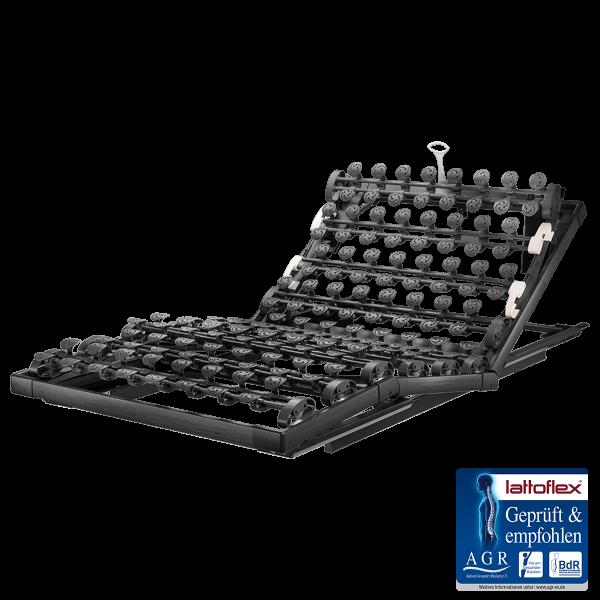 Lattoflex Lattenrost MiS Rahmen Thevo 970 mit Verstellmöglichkeiten Kopf 5-stufig, manuell, Oberkörper/Rücken und Knie stufenlos, Gasfeder