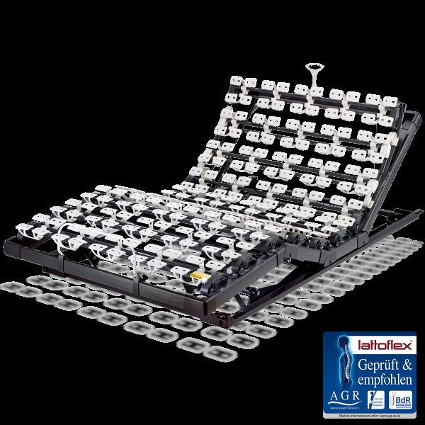 Lattoflex Lattenrost Motorrahmen 283 mit Verstellmöglichkeit motorisch und manuell Kopf, Oberkörper/Rücken, Ober- und Unterschenkel