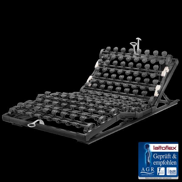 Lattoflex Lattenrost MiS Rahmen Thevo 960 mit Verstellmöglichkeiten manuell für Kopf 5-stufig, Oberkörper/Rücken 6-stufig, Knie-Knick 3-stufig