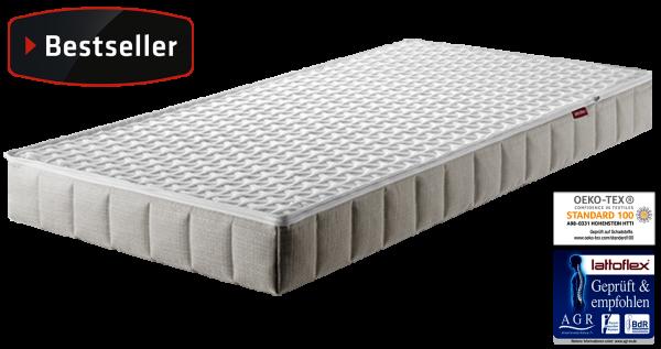 Lattoflex Babymatratze LF1 Ökotex in 60x120 und 70x140, mit Liegefläche weiß, Lattenrost integriert