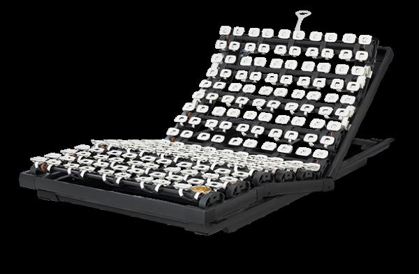 Lattoflex Lattenrost Rahmen 370 mit Verstellmöglichkeiten Kopf 5-stufig, manuell, Oberkörper/Rücken und Knie stufenlos, Gasfeder
