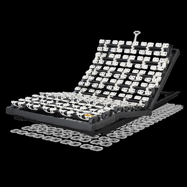 Lattoflex Lattenrost Rahmen 270 mit Verstellmöglichkeiten Kopf 5-stufig, manuell, Oberkörper/Rücken und Knie stufenlos, Gasfeder