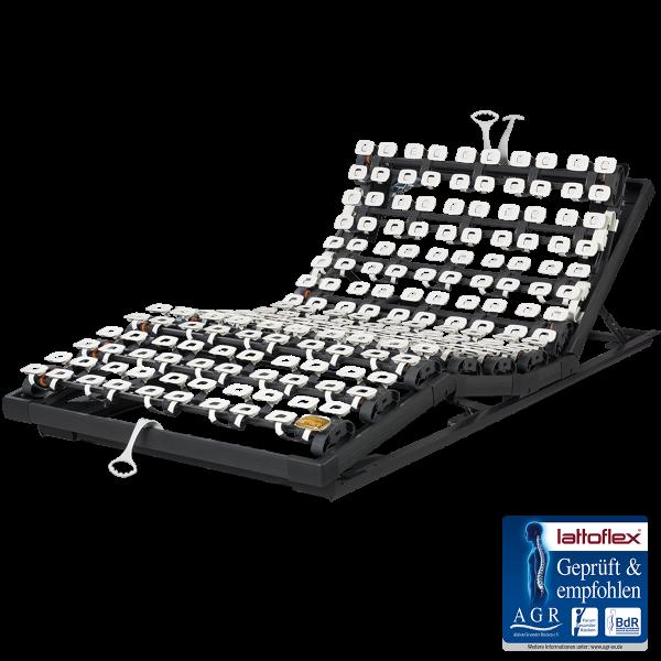 Lattoflex Lattenrost Rahmen 360 mit Verstellmöglichkeiten manuell für Kopf 5-stufig, Oberkörper/Rücken 6-stufig, Knie-Knick 3-stufig