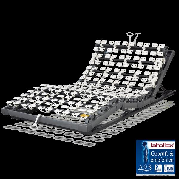 Lattoflex Lattenrost Rahmen 260 mit Verstellmöglichkeiten manuell für Kopf 5-stufig, Oberkörper/Rücken 6-stufig, Knie-Knick 3-stufig