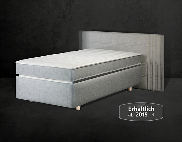 Lattoflex Bett mit Kopfteil verstellbar, Lattenrost Rückgrat-Zone, Matratze