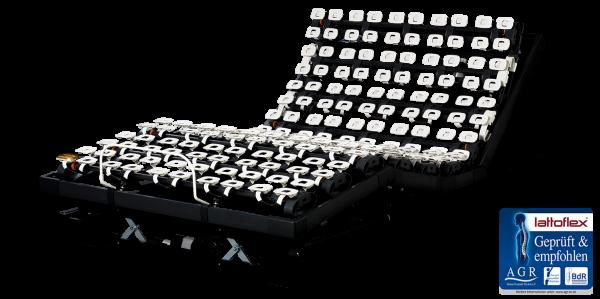 Lattoflex Lattenrost Motorrahmen 395 mit Verstellmöglichkeit motorisch für Kopf, Oberkörper/Rücken, Ober- und Unterschenkel, Körperschräglagerung