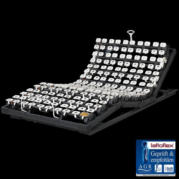 Lattoflex Lattenrost Motorrahmen 382 mit Verstellmöglichkeit motorisch und manuell für Kopf, Oberkörper/Rücken und Oberschenkel