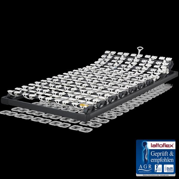 Lattoflex Lattenrost Rahmen 210 mit Verstellmöglichkeiten manuell für Kopf 5-stufig